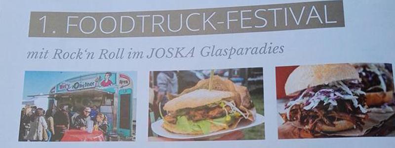 1. Foodtruck-Festival mit Rock'n Roll im Joska Glasparadies