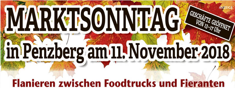 Marktsonntag in Pnezberg, 11. November 2018